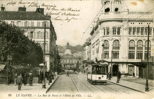 575 test La rue de Paris vers 1900, carte postale